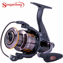 Sougayilang Spinning Fishing Reel Ultra Smooth 13+1BB Light Weight Powerful Non-Slip EVA Knob Freshwater Fishing Wheel Tackle