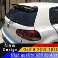 Для Volkswagen golf 6 2010 до 2013 ABS спойлер из материала любой цвет или праймер заднее крыло автомобиля модифицированный спойлер
