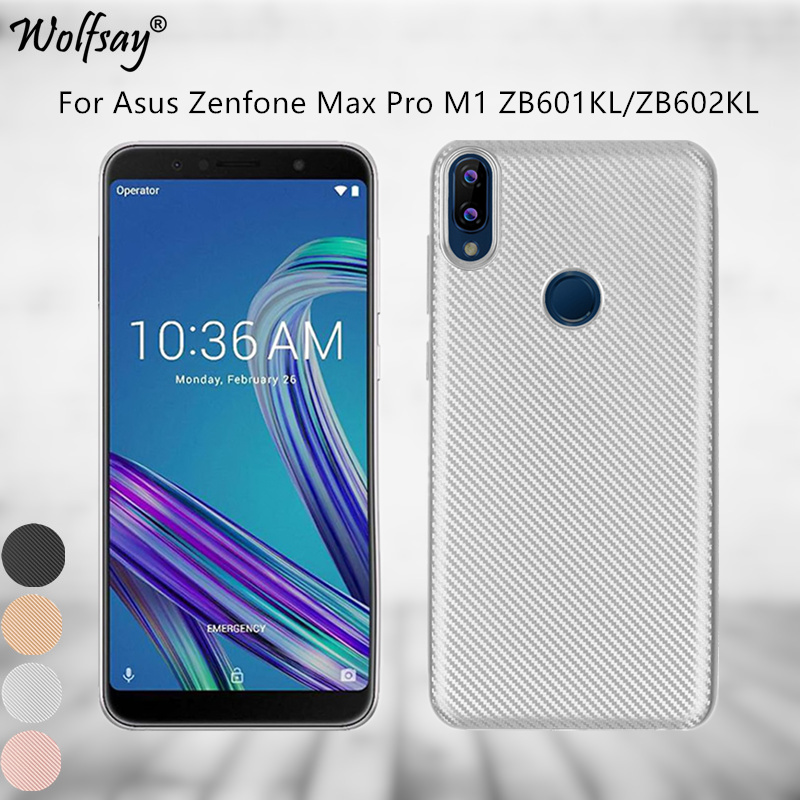 Wolfsay Asus Zenfone Max Pro M1 ZB602KL Case Slim Soft Silicone Case For Asus Zenfone Max Pro M1 ZB602KL Cover ( ZB601KL ) X00TD