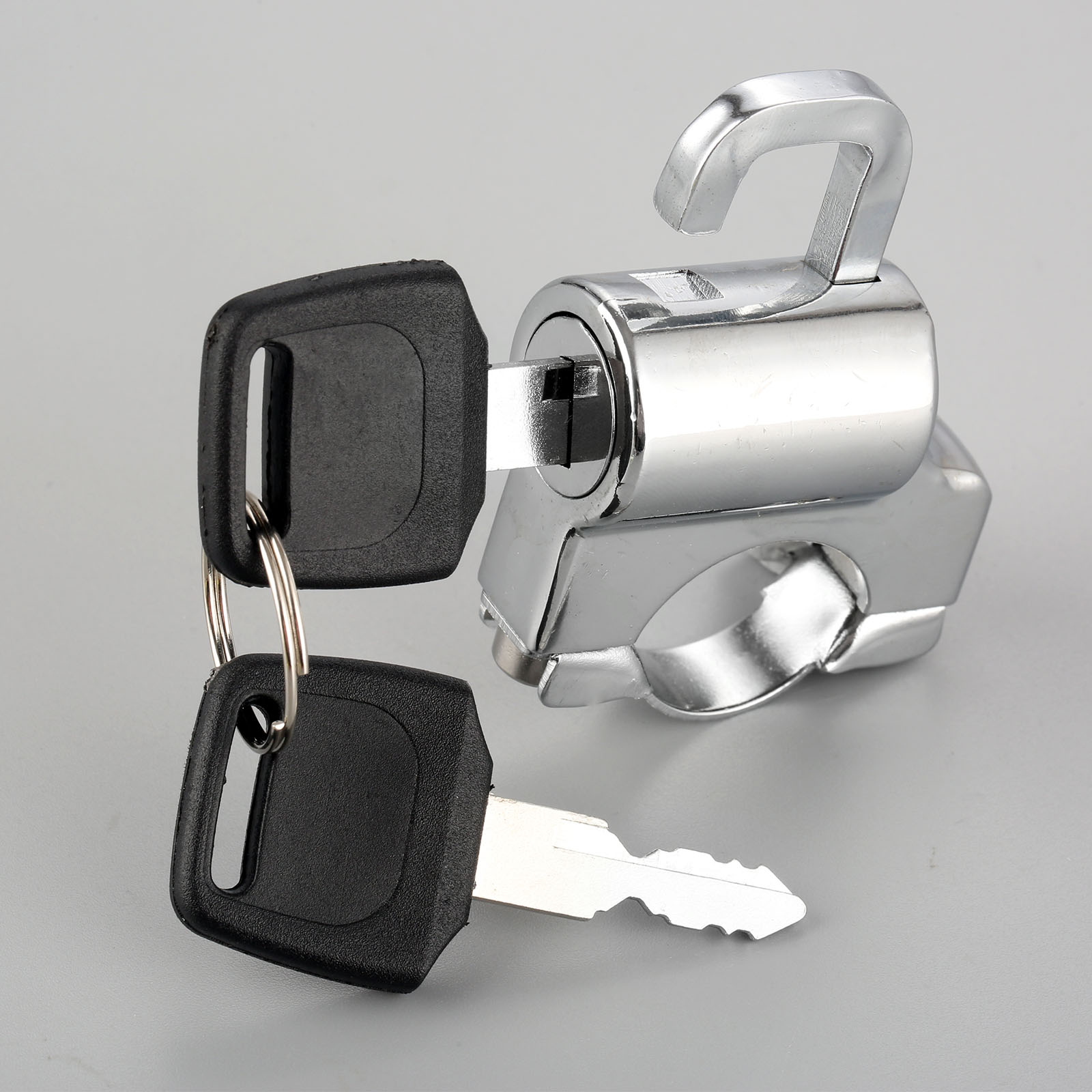 1 Pc moto casque unique serrure vélo crochet suspendu clés ensemble Chrome 22mm 7/8