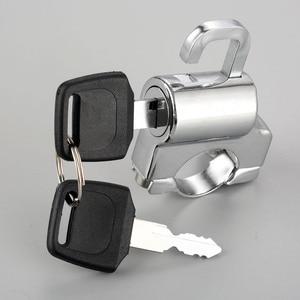 Image 2 - 1 шт. Однорычажный замок для мотоциклетного шлема, комплект ключей на крючок для велосипеда, хромированная трубка 22 мм 7/8 дюйма, руль с аксессуарами