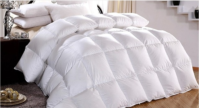 Duvet filled White Goose feather   down tog value 4.5 for summer 150 gsm UK  King size 7.2    7.3  factory price on sale b98ca8074