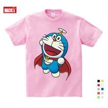 Selling Summer New Doraemon Cartoon Print Tee Tops For Boy Girls Clothing Children Funny lovely Kids T Shirt