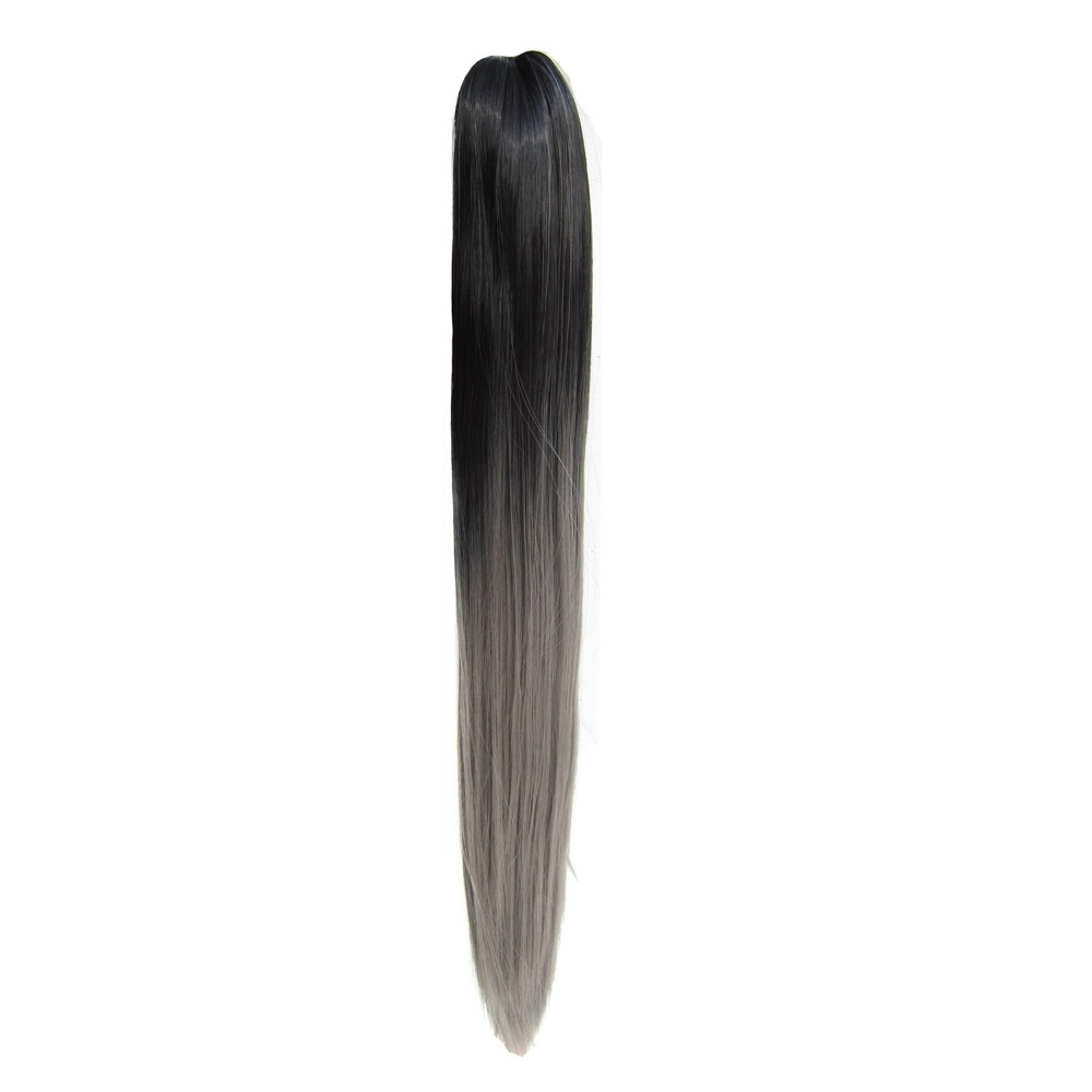 """TOPREETY Heat Resistant Synthetic Fiber 160gr 22"""" 55cm Straight Claw Clip in/on Ponytail hair extensions Ombre Colors CP-666"""