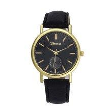 20107 men's watch Relogio masculino Saat New Unisex Leather Band Analog Quartz Vogue Wrist Watch Watches for women
