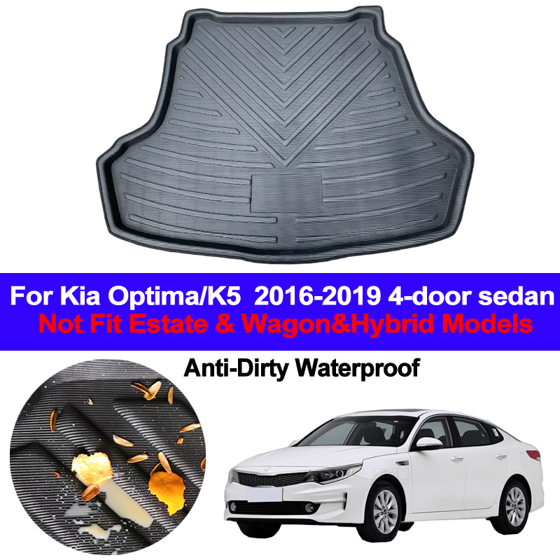 Car Rear Boot Cargo Liner Tray Trunk Floor Carpet Mats Carpets Pad Anti-dirty For Kia Optima K5 2016 2017 2018 2019 4-door sedan image