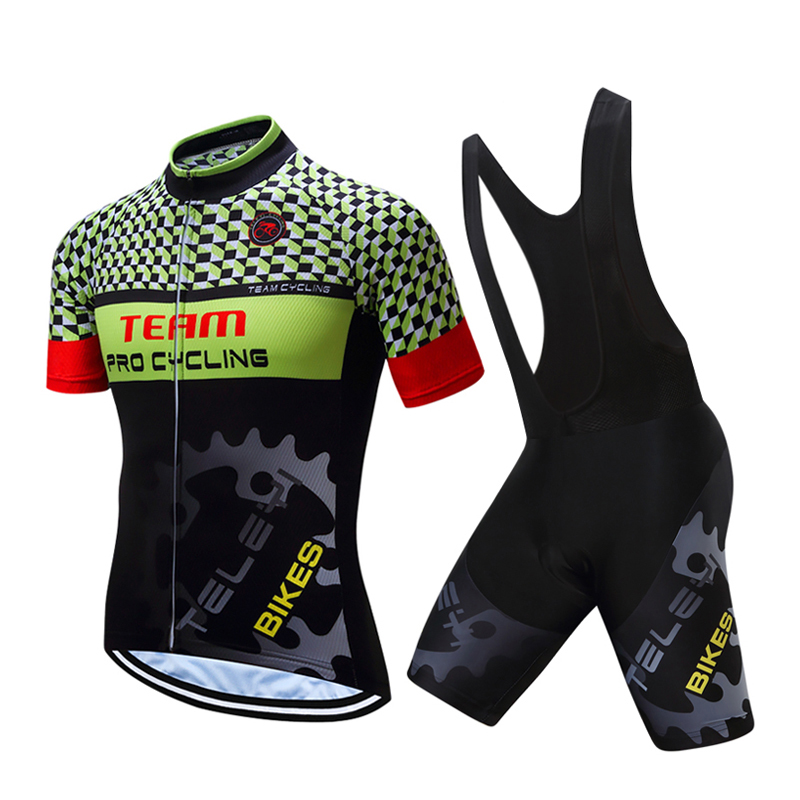 Good Quality Men Pro Team Cycling Tops Gel Pad Bib Shorts Sets Male 2018 Racing Bike Jersey Kits Bicycle Clothing/Clothes Wear