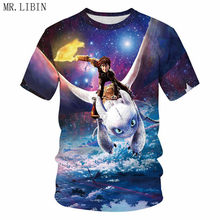 New Arrival How To Train Your Dragon T-shirt Summer 3D Anime Printed T Shirts  Harajuku Streetwear Funny Toothless Print Tops