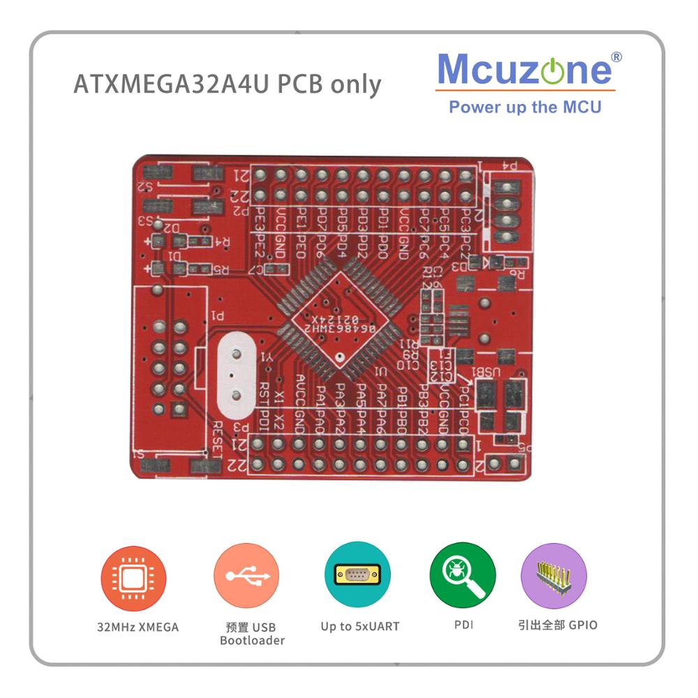 ATxmega32A4U Mini Board PCB USB PROGRAM PDI  SD GPIO XMEGA32A4U 32A4U MCIROCHIP 32A4 U