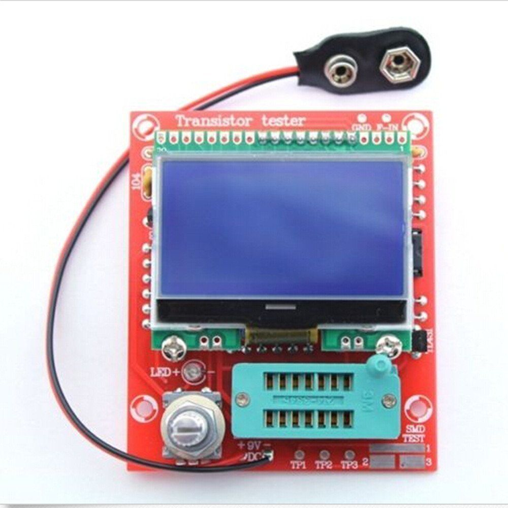 Diy Kits Digital Combo Component M8 Transistor Tester Capacitor Lcr Home Images Lc Meter Circuit Coil Diode Capacitance Esr Pwm Square Wave 12864 Lcd In Integrated Circuits From