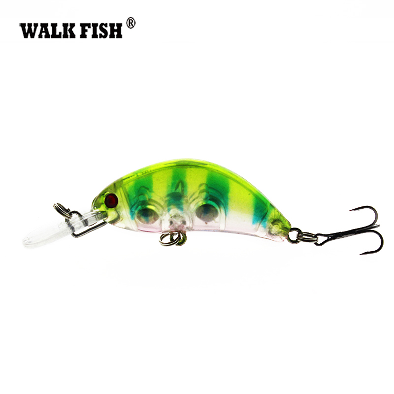Walk Fish 1Pcs 5.5cm 3.9g Crankbait Hard Bait Tight Wobble Japan Slow Floating Fishing Tackle Lure Wobbler Transparent кроссовер beyma f300