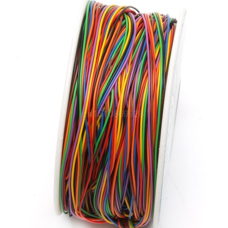 Un Rotolo 8 Colori 30AWG Wire Wrapping Wire, Stagnato Solido di Rame, isolamento IN PVCUn Rotolo 8 Colori 30AWG Wire Wrapping Wire, Stagnato Solido di Rame, isolamento IN PVC
