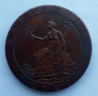 uk 1 Penny - George III 1797 syiling