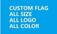 100cmx500cm custom design flag with 2 brass grommet