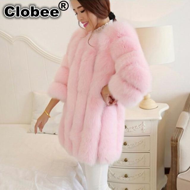 94e5aba19d446 2018 hiver 5XL 6XL grande taille veste d'hiver femmes rose manteau de fourrure  femmes