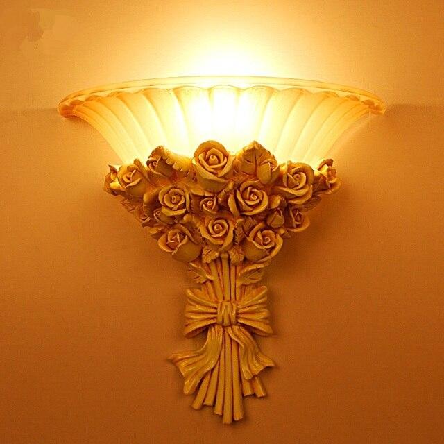 Boeket bloemen muur lampen woonkamer LED slaapkamer bedlampje ...