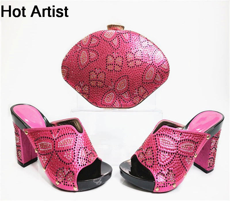 Hot Artist Nigeria Style Elegent Shoes And Bag Set Summer Style Ladies High Heels Shoes And Bag Set For Party Size 38-42 G31 поводки triol поводок рулетка размер l 5м до 50кг лента