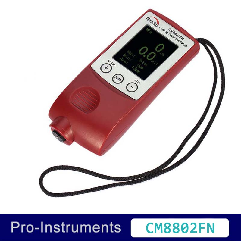 Nicety CM8802FN Color Display Coating Thickness Gauge Painting Thickness Measurement Film Thickness Meter Car Paint Tester handheld digital coating thickness gauge gauges 0 1300um automotive car painting film thickness meter tester car paint tester