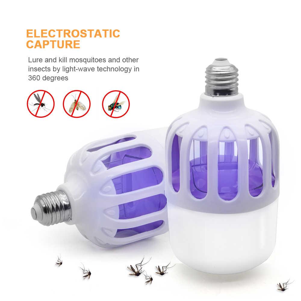 Светодиодная лампа от комаров E27 светодиодная лампа 18 Вт 3 режима электростатический антимоскитный Zapper светильник для дома против насекомых Ловушка