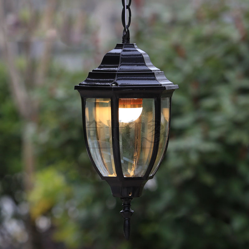 Porch Light Pendant: Vintage Outdoor Pendant Lights Courtyard Corridor Hanging