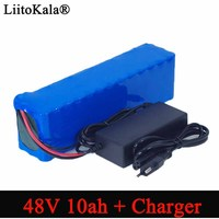 LiitoKala e bike battery 48v 10ah 18650 li ion battery pack bike conversion kit bafang 1000w + 54.6v Charger