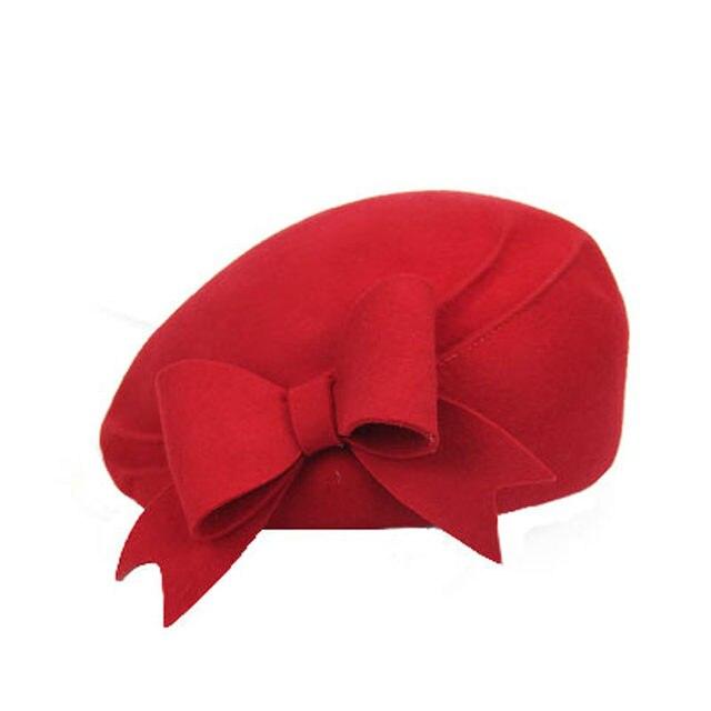 082e575e802f4d Online Shop FS Elegant 100% Wool Felt Fedora White Black Ladies Red ...