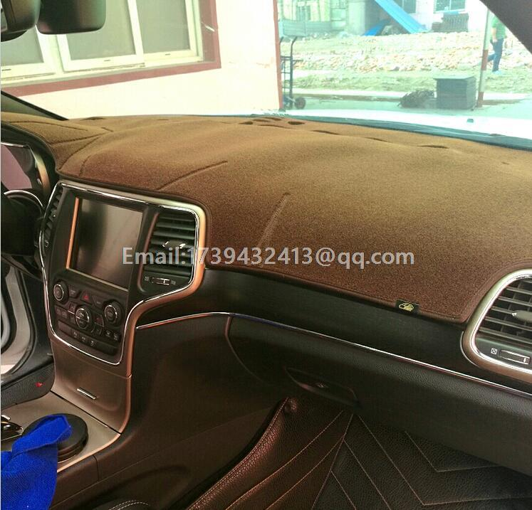 Dashmats auto-styling accessoires dashboard cover voor jeep Grand Cherokee wk2 2011 2012 2013 2014 2015