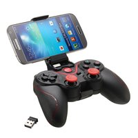 Wireless Bluetooth C8 Game Handle Gamepad Hand Shank for Phone PS3 Gamepad Handles Stand Bluetooth Receiver 2.4G Black White