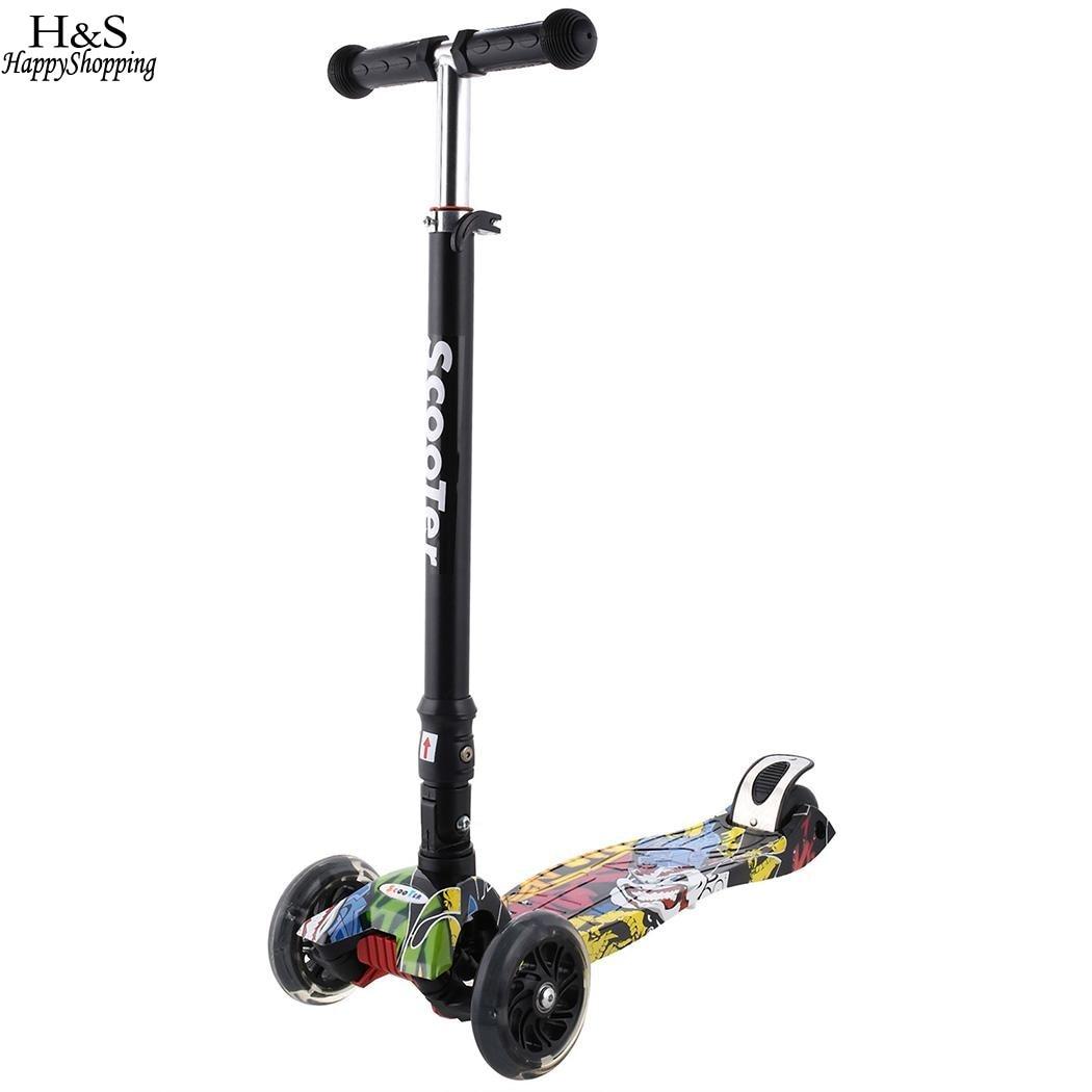 Tout nouveau alliage d'aluminium coup de pied Scooter garçons filles hauteur réglable enfants Scooter Tricycle poussette Trottinette Enfant