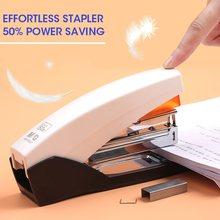 M & g 25/50 folhas sem esforço resistente grampeador livro de papel encadernação grampear máquina padrão material de escritório escolar papelaria 25