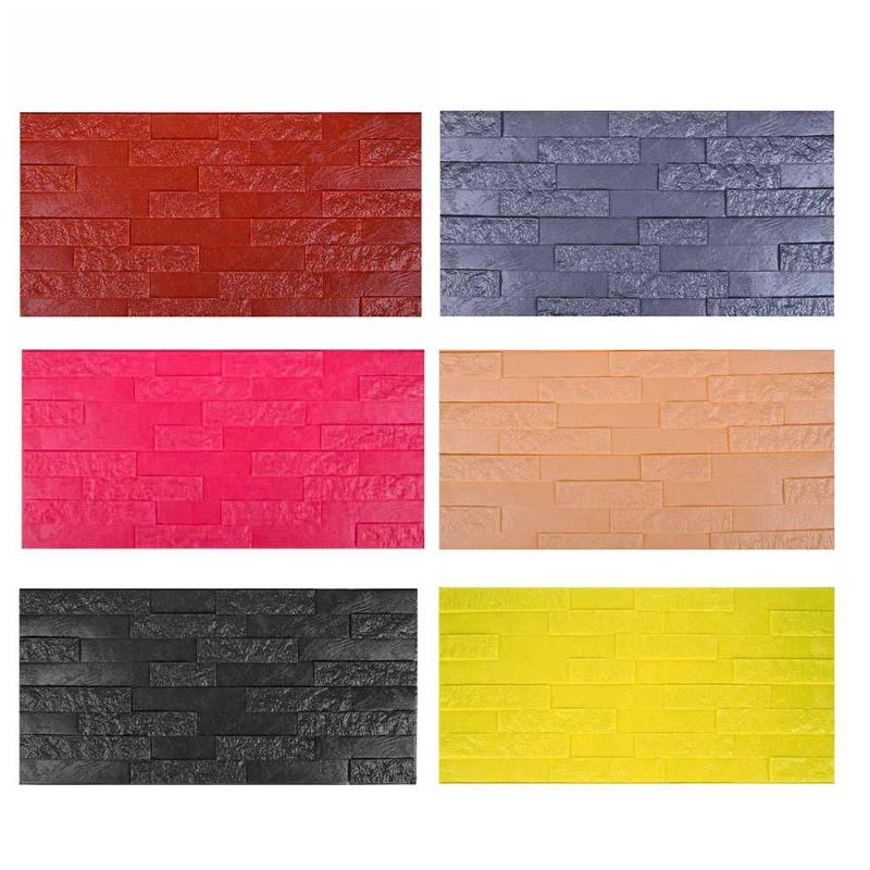 60*30cm PE Foam 3D Wall Stickers Safty Wallpaper DIY Home Wall Decor Brick Living Room Kids Bedroom Decorative Sticker