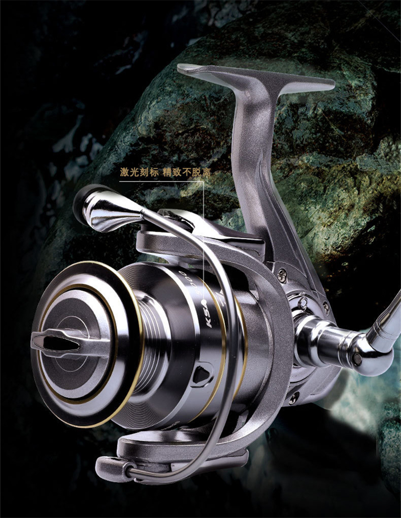 High-Quality Fishing Reel With Non-Slip Bottom And Metal Spool For Saltwater 12
