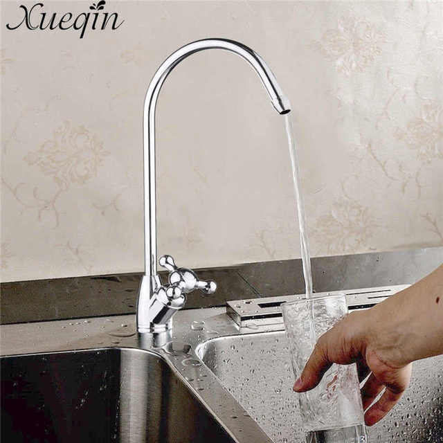 Xueqin 1/4u0027u0027 Reverse Bathroom Kitchen Water Filter Faucet Gooseneck Type  Basin Faucets