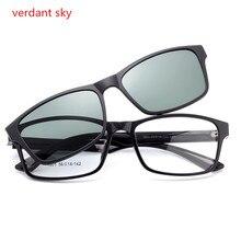 2017TR90 New Cool Lenses Clip On Sunglasses Men Flip Up Clips Driving Sun Glasses Women Super Light Reading glasses Original box