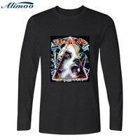 Alimoo Long Sleeve Men S T Shirt Plus Size XXS 4XL DEF LEPPARD Rock Band Men
