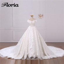 Floria Arabic Wedding Dresses Turkish Dubai Lace