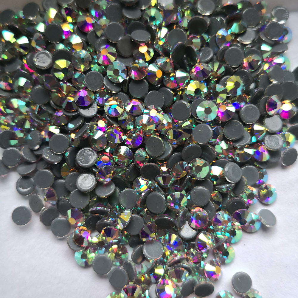 288pcs SS30 Crystal AB Hot Fix Rhinestone Crystals Flatback Strass Iron  Stones For Garments Evenning dress Bags shoes-in Rhinestones from Home    Garden on ... cda76452e7f4