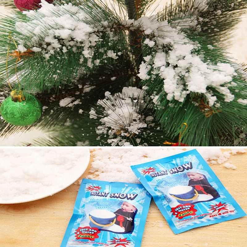 10 cái/lô Đáng Yêu Giáng Sinh Trắng Tuyết Giả Magic Liền Tuyết Lông Tơ Siêu Absorbant Đồ Dùng Trang Trí Giáng Sinh Cưới Tiếp Liệu
