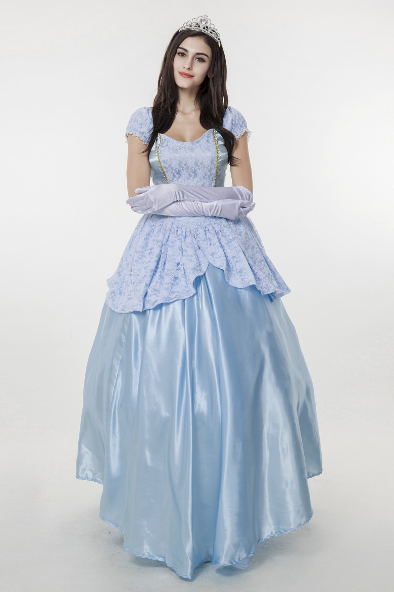 Real Time European Blue Court Dress Part Code Halloween Clothing ...