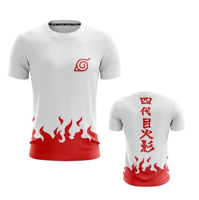 Red Flame Naruto Man/Women T-shirt