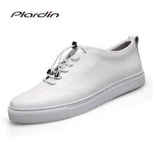 Plardin/2017 Four Seasons Мода Плюс Размеры человек пластины обувь Разделение кожа мягкая дышащая удобная Повседневное для мужчин обувь
