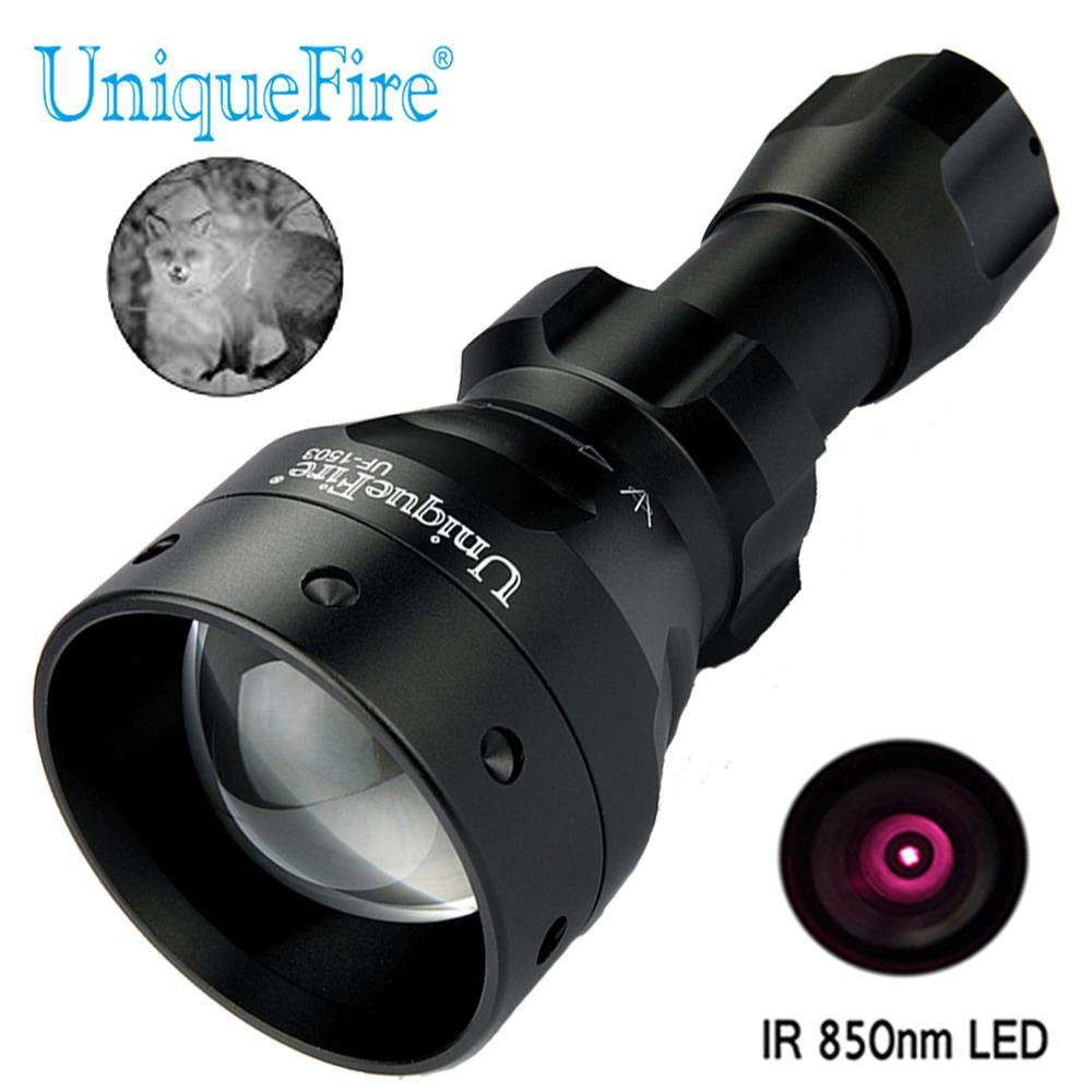 UniqueFire 1503 IR 850nm Infrared Light LED Flashlight Night Vision Zoomable Lamp 3 Mode Zoom Adjustable
