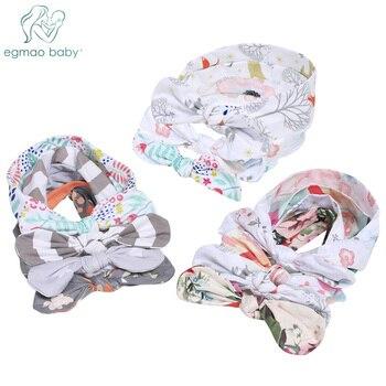 Cute Rabbit Ear Baby Headband Neonata Bow Flower Elastic Baby Girls Head bands Children Turban Hair Accessories Hair