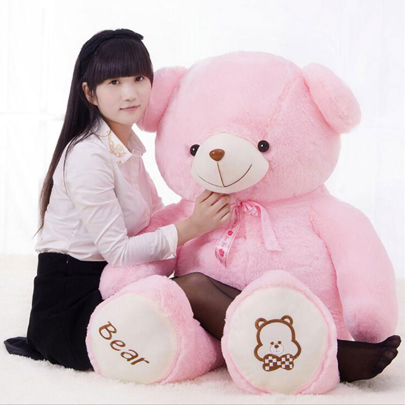 Kawaii 4 Color Teddy Bear 100CM Creative Kids Gift Stuffed Bear Doll Toys PP Cotton Inside Plush Baby Doll Toys 40inch Soft Bear гимнастический обруч алюминиевый мультиколор 90см