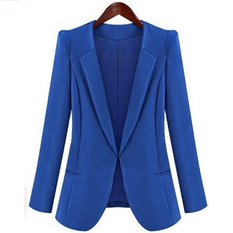 Explosion models womens 2018 new casual small suit womens slim jacket professional wear solid color thin section