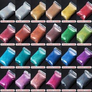Image 5 - TCT 069 24 Finest 0.05 MM Size Holografische Kleur Kleinste Maat Glitter Poeder voor Nail, Tatto Art Decoratie DIY Make verf