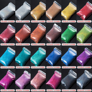 Image 5 - TCT 069 24 najlepsze 0.05MM rozmiar holograficzny kolor najmniejszy rozmiar brokatowy proszek do paznokci, Tatto artystyczna dekoracja makijaż diy farba