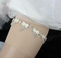 New Design Rhinestones Wedding Garter Bride Garter Handmade With Imitation Pearl And Crystal Stone