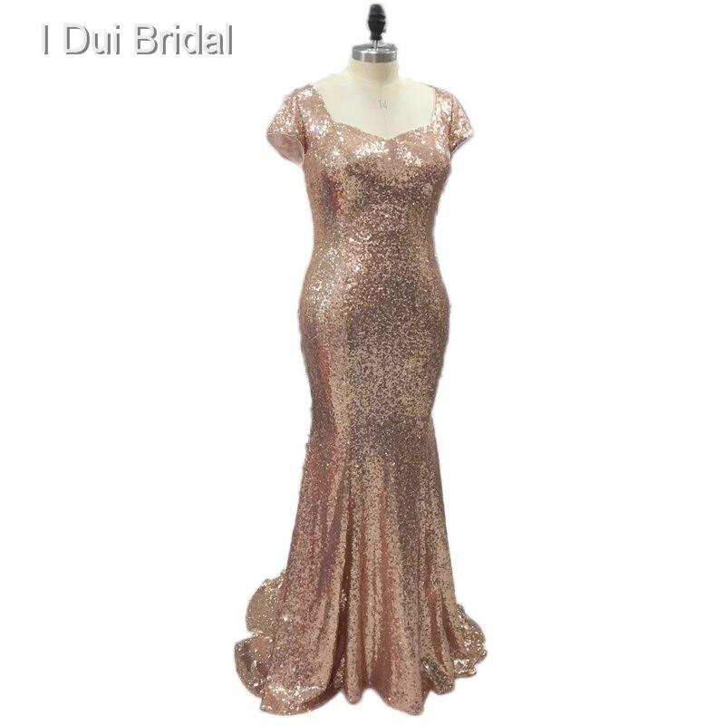 Pailletten Hochzeit Fabrik Mantel Maß Nach Kleider Plus Brautjungfer Rose Trauzeugin Gold Champagne Größe Badgley zwqUE4Pn