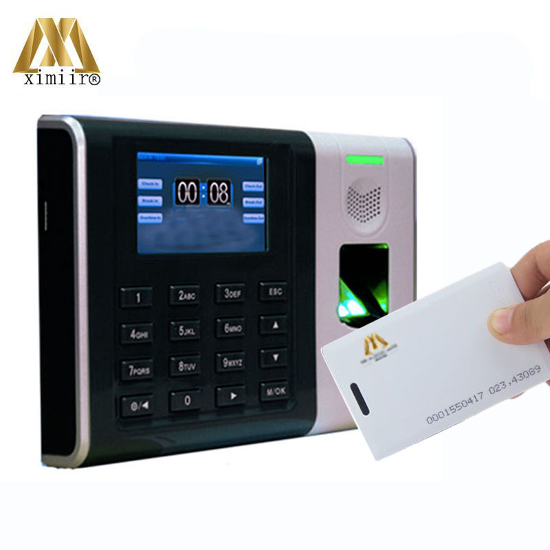 Biometric Fingerprint Recognition Attendance Machine XM100 Fingerprint & ID Card Time Attendance Time Clock Optional WIFI, ADMS